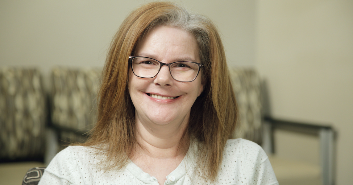 Theresa the dental implant patient in Hiawatha, IA